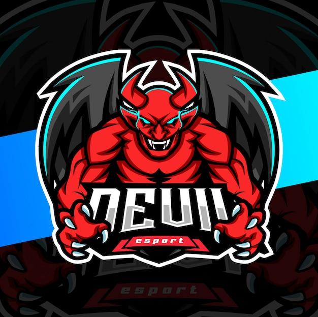 Diseño de logotipo esport mascota del diablo