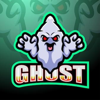 Diseño de logotipo de esport de mascota de juego fantasma