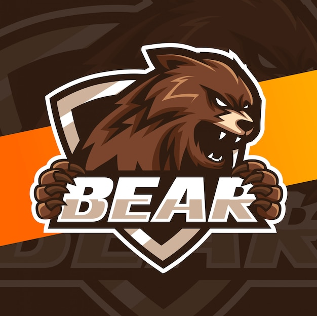 Diseño de logotipo esport mascota oso