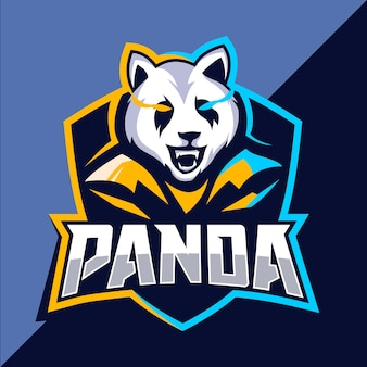 Diseño de logotipo de esport mascota panda