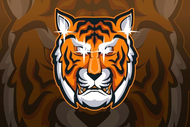 Diseño de logotipo de esport de mascota de tigre