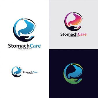 Diseño de logotipo de estómago