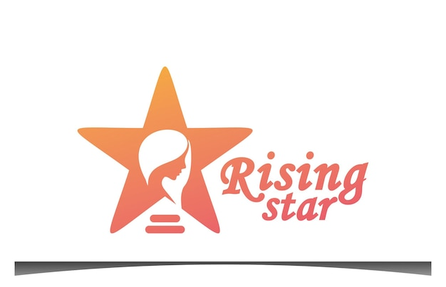 Diseño de logotipo de estrella en ascenso
