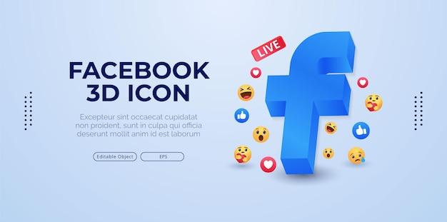 Diseño de logotipo de facebook simple vector premium