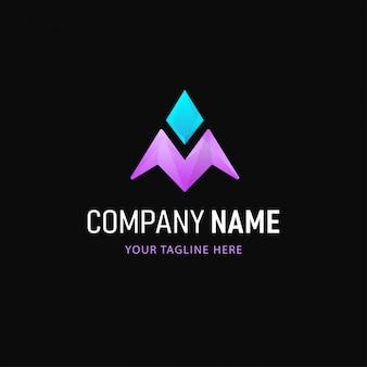 Diseño de logotipo de flecha. logotipo abstracto de estilo degradado