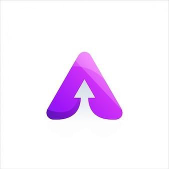 Diseño de logotipo de flecha