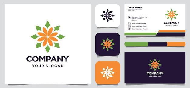 Diseño de logotipo de flor abstracta
