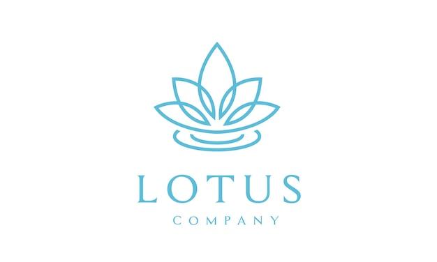 Diseño de logotipo de flor de loto