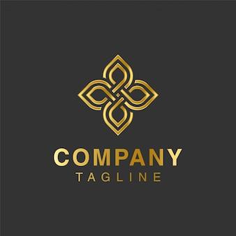 Diseño de logotipo de flor premium de lujo
