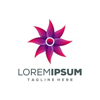 Diseño de logotipo de flor