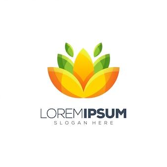 Diseño del logotipo de la flor