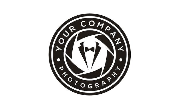Diseño de logotipo de fotógrafo de moda
