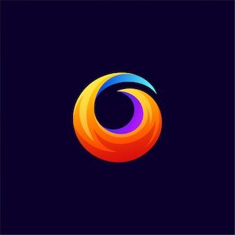 Diseño de logotipo de fox de fuego