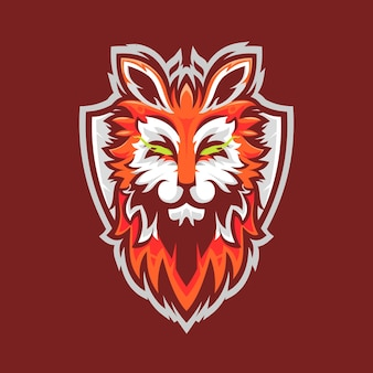 Diseño de logotipo de fox mascot esport