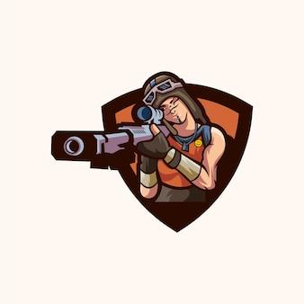Diseño de logotipo de francotirador