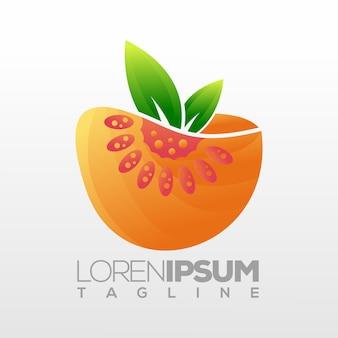 Diseño de logotipo de fruta