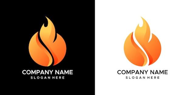 Diseño de logotipo de fuego ardiente.