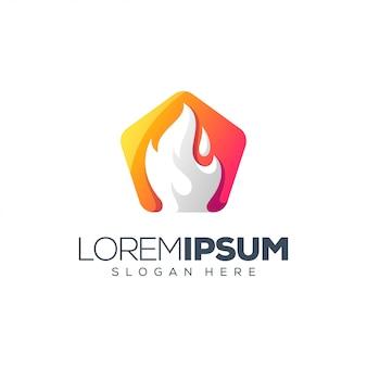 Diseño de logotipo de fuego