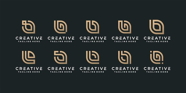 Diseño de logotipo de fuente de alfabeto inicial de monograma creativo letra b para identidad de marca