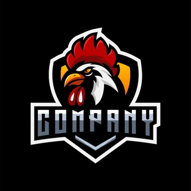 Diseño de logotipo de gallo