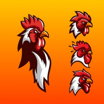 Diseño de logotipo de gallo