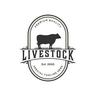 Diseño de logotipo de ganado.