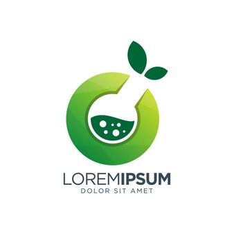Diseño de logotipo de gradiente de laboratorio