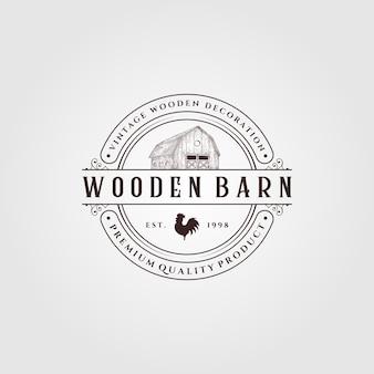Diseño de logotipo de granja vintage