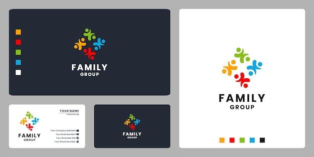 Diseño de logotipo de grupo familiar para comunidad humana.