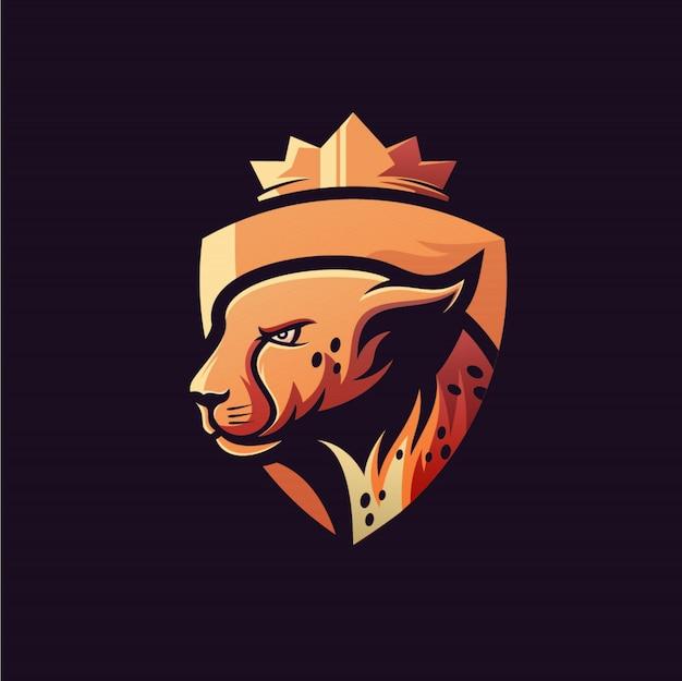 Diseño de logotipo de guepardo esports