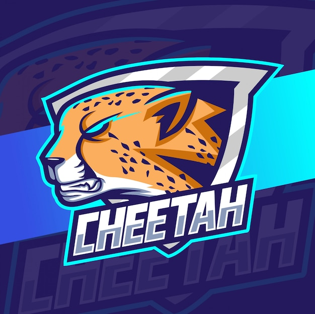 Diseño de logotipo de guepardo mascota esport