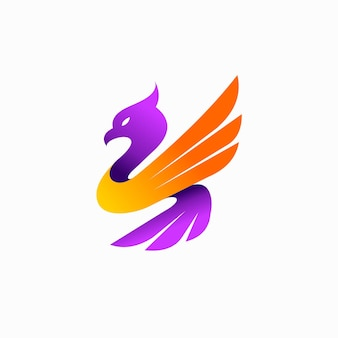 Diseño de logotipo de halcón con concepto simple
