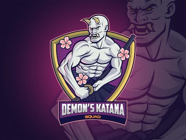 Diseño del logotipo de hannya demon esports para tu escuadrón