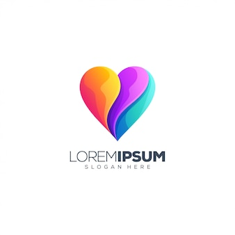 Diseño de logotipo de heart love