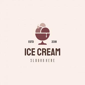 Diseño de logotipo de helado, logotipo de sweet food