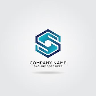 Diseño de logotipo hexágono letra s