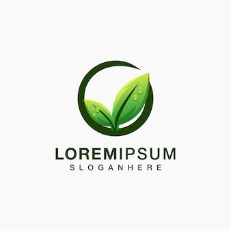 Diseño de logotipo de hoja ilustración vectorial