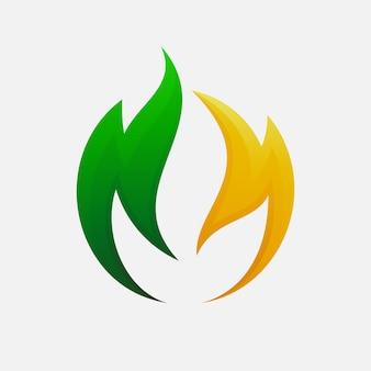 Diseño de logotipo de hoja para su empresa de agricultura.