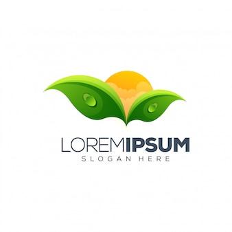 Diseño de logotipo de hoja