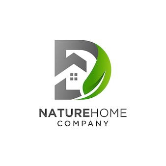 Diseño de logotipo de home nature