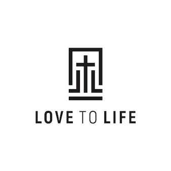 Diseño de logotipo de la iglesia