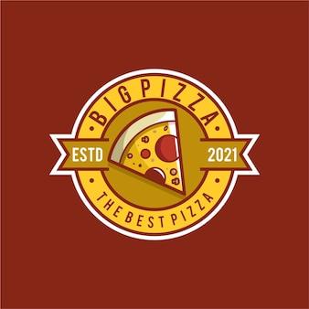 Diseño de logotipo de ilustración de pizza