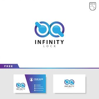 Diseño de logotipo infinity lock