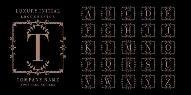 Diseño de logotipo inicial de lujo
