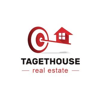 Diseño de logotipo de inmobiliaria objetivo de la casa