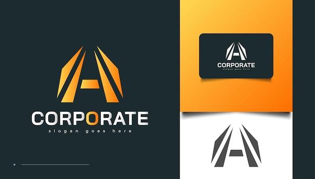 Diseño de logotipo inmobiliario moderno con concepto de letra a