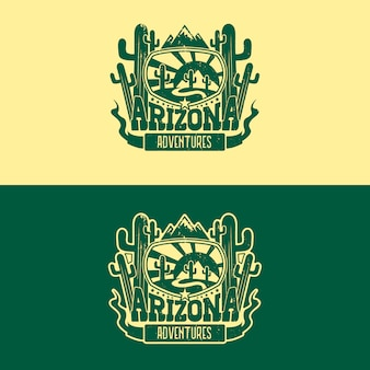 Diseño de logotipo insignia de arizona