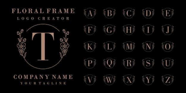 Diseño de logotipo de insignia inicial de lujo