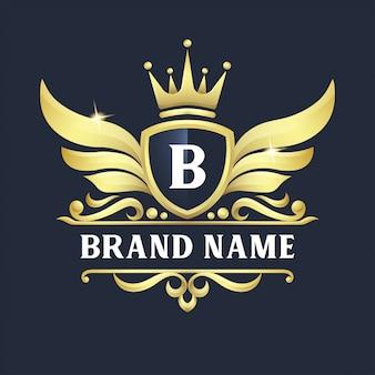Diseño de logotipo de insignia de lujo