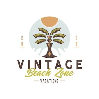 Diseño de logotipo de insignia vintage de playa